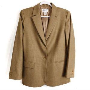 Vintage Pendleton Virgin Wool Tan Blazer Jacket